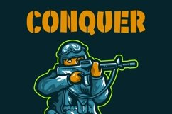 Military Kid - Stencil Army Kids Font Product Image 5