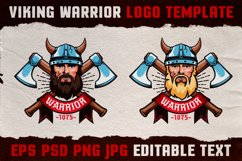 Viking Warrior Logo Colored Template Product Image 1