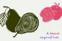 Linocut Handwritten Script Font Kid Craft Typeface Engraved Product Image 3