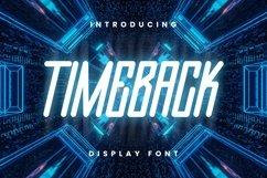 Web Font Timeback Font Product Image 1
