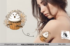 Halloween Cupcake With White Cream Ghost PNG Sublimation Product Image 4