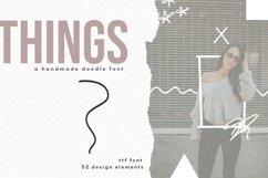 Things - A Doodle Design Font Product Image 1