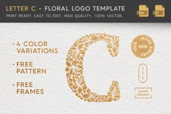 Letter C - Floral Logo Template Product Image 1