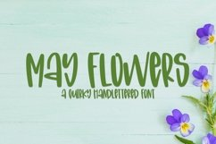 Web Font May Flowers- A Quirky Hand-Lettered Font Product Image 1
