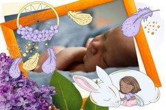 SPARKLING FAIRY Glitter Color Vector Illustration Set Product Image 4