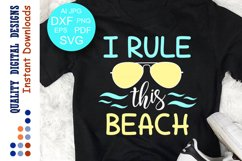 I Rule This Beach Svg quote Sunglasses Product Image 1