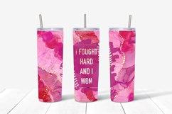 9 Breast Cancer 20 Oz. Skinny Tumbler Sublimation Bundle Product Image 2