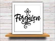 Forgiven svg SVG DXF JPEG Silhouette Cameo Cricut Jesus svg iron on cross svg Forgiven workout shirt Cross svg Product Image 2