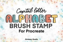 Alphabet brushes, 26 Alphabets brush stamp procreate Product Image 2