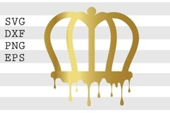 Drippin' Crown SVG Product Image 1