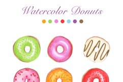 Watercolor Donuts Party Product Image 2