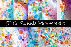 50 Oil Bubble Rainbow Photography Backgrounds Product Image 1