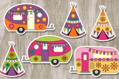 Happy camper Teepee Tent - Camping Caravan Graphics Product Image 2