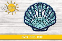 3D Layered Sea shell Mandala SVG 5 layers Product Image 2