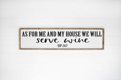 Funny Wine SVG - As For Me and My House We Will Serve Wine Product Image 2