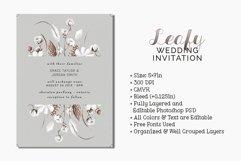Leafy Wedding Invitation Product Image 1