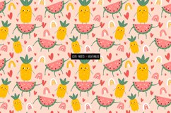 Funny fruits & vegetables, Seamless pattern. Product Image 5