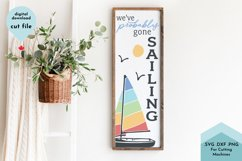 Beach House Decor SVG, Vertical Sign, Porch, Sailboat Product Image 1
