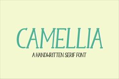 Camellia - a handwritten serif font Product Image 1