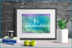 Turquoise Watercolor Background, Sublimation Watercolor Product Image 3