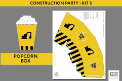 Construction birthday party printable decorations, party kit Product Image 4