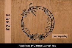 Floral Frame SVG| Flower border SVG| Flower Frame Cut Files Product Image 2