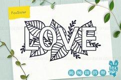 Love svg, word LOVE svg design Product Image 1