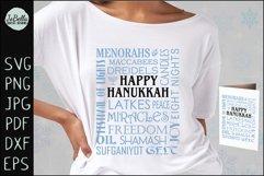 Subway Art Happy Hanukkah SVG Product Image 2