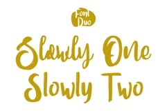 SLOWLY Font Duo Product Image 6