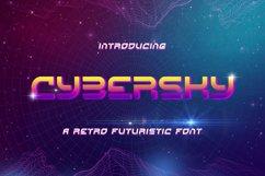 Cybersky - a Retro Futuristic Font Product Image 1