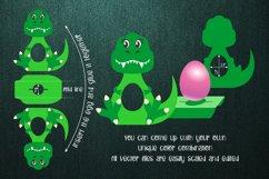 Tyrannosaurus-Chocolate Egg Holder template SVG Product Image 2