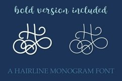 Hairline Monogram Font - Bold Version Included Product Image 2