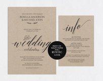 Wedding invitation set portrait, TOS_35 Product Image 5