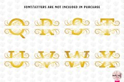 Split Monogram Swirls - A to Z Split Monograms Product Image 4