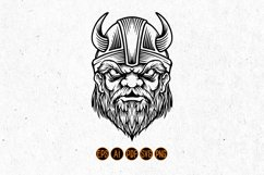 Viking troops Silhouette horned helmets Product Image 3