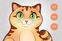 Cute kitten, cat in cartoon style, kitty vector illustration Product Image 2