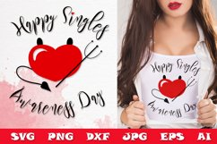Valentine's SVG Cut files - Valentines day SVG PNG DXF quote Product Image 1