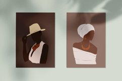 Black Girl Clipart, portrait vector, abstract woman, female Product Image 3