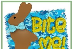 Bite Me Chocolate Easter Bunny Sublimation Product Image 2