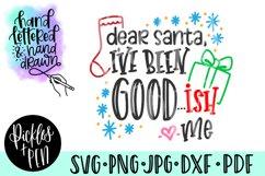dear santa svg - funny kids christmas svg Product Image 1