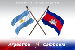 Argentina vs Cambodia Two Flags Product Image 1