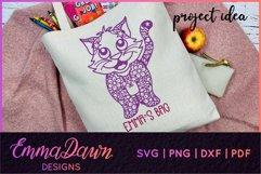 CLEO THE CAT SVG 6 MANDALA / ZENTANGLE DESIGNS Product Image 4