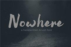 Nowhere Handwritten Brush Font Product Image 1