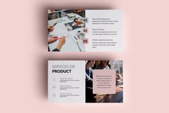 PPT Template | Project Proposal - Pink and Marble Round Product Image 4