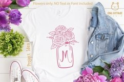 Mason Jar SVG file, Mason Jar Cut file, Mason Jar with roses Product Image 6