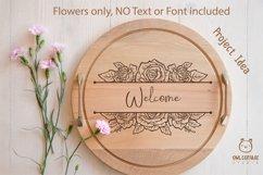 Rose SVG, rose PNG, Wedding flowers, Flowers SVG Product Image 6