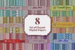 Bundle of Elegant Digital Paper Pack Product Image 1