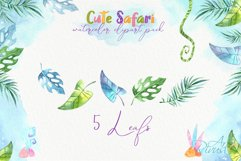 Cute safari animals watercolor clipart pack Africa animals Product Image 2