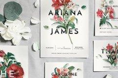Modern Vintage Floral Wedding Invitation Suite Product Image 5