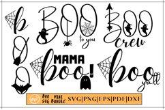 Boo SVG Mini Bundle |Halloween Boo Bundle SVG - 5 Product Image 1